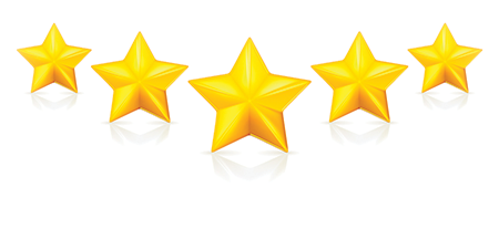 Image of 5 golden stars, referring to our 5-star BBB rating